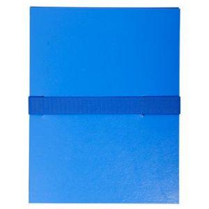 Exacompta 2642E - Chemise à dos extensible balacron, à sangle velcro, coloris bleu