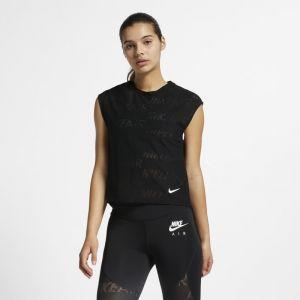 Nike Haut de runningà manches courtes Air pour Femme - Noir - Taille L - Femme
