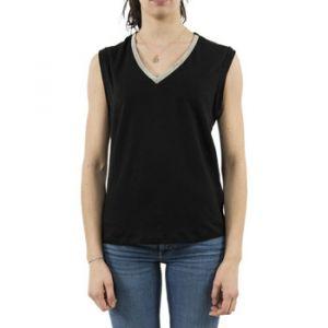 Le Temps des Cerises Blouses Tee Shirt col V avec perles CHRIS Noir Noir - Taille EU S,EU M,EU L,EU XS