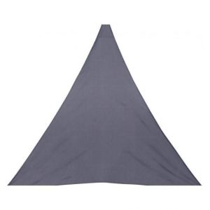 AC-Déco Toile solaire triangle Anori - 300 x 300 x 300 cm - Polyester - Gris