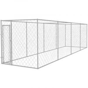 VidaXL Chenil extérieur pour chiens 8 x 2 m