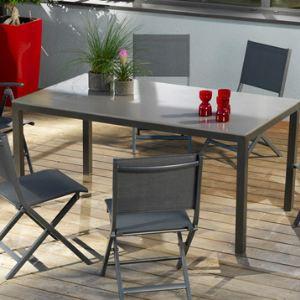 Proloisirs Table de jardin rectangulaire Création en aluminium 160 x 90 x 74 cm