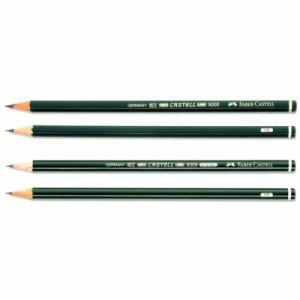 Faber-Castell 119003 - Crayon Castell 9000, hexagonal, dureté de mine: 3B