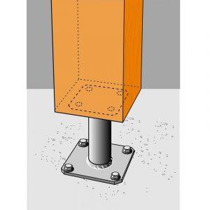 Simpson Strong-Tie Kit complet pied de poteau pour auvent pergola véranda (Ht : 100) - SIMPSON