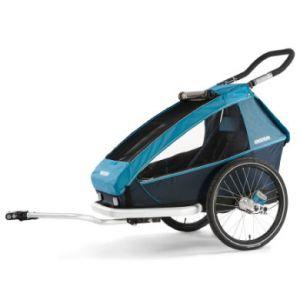 Croozer Remorque vélo Kid Plus for 1 - Bleu Remorques pour enfant