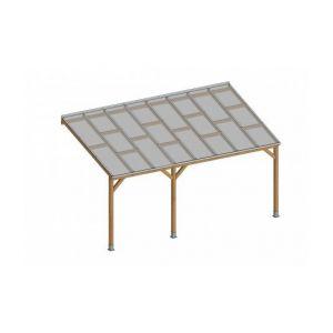 Keter Toit Couv'Terasse Bois 3x4,9 avec toit polycarbonate