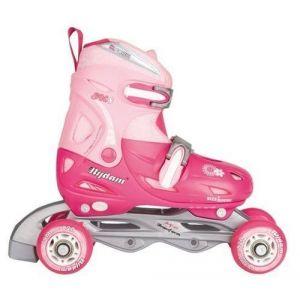 Nijdam Chaussures Ajustables pour Enfants, Fuchsia/Rose/Argent, Taille 30-33