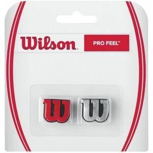 Wilson Anti-Vibrateurs avec Logo pour Raquette, Pro Feel, Lot de 2, Rouge/Argenté, WRZ537600