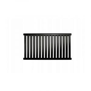 AZURE | Radiateur eau chaude design horizontal Acier 54x98 cm Puissance 652 W | Radiateur 16 lames chauffage central Entraxe 500mm | Noir TROUV