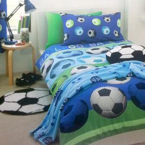 Football - Housse de couette avec taie (140 x 200 cm)