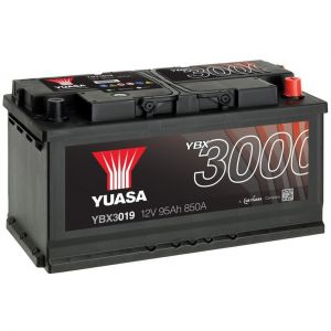Yuasa SMF Batterie Auto 12V 95Ah 850A YBX3019 12V 95Ah 850A SMF Battery 353 x 175 x 190 mm + D