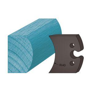 Diamwood Platinum Jeu de 2 contre-fers profilés Ht. 48 x 5,3 mm moulure spéciale étagère A215 pour porte-outils de toupie