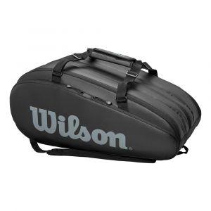 Wilson Sac de Tennis, Tour 3 Comp, Noir, Unisexe, Jusqu'à 15 Raquettes, WRZ849315