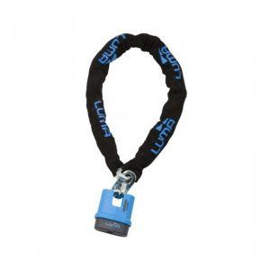 Luma Babycare LUMA ENDURO Chaîne 48/140 Bleu - LUMA ENDURO Chaîne 48/140 Bleu - Mécanisme de verrouillage protégé par disques anti-perçage avec 7 pins - Chaîne en 10 mm de diamètre - Composition : acier et zamak - Vendue avec 2 clés.