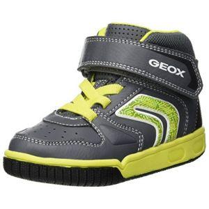 Geox Jr Gregg B, Baskets Hautes garçon, Gris (Grey/Lime C0666), 26 EU