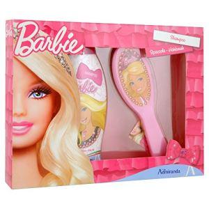 Admiranda Coffret de bain Barbie - Shampoing démêlant et brosse à cheveux 2D