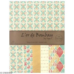 Toga Papier l'Or de Bombay 27,8 x 21,2 cm - Pastel - 6 feuilles