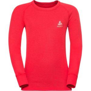 Odlo Vêtements intérieurs Shirt L/s Crew Neck Warm Kids - Hibiscus - Taille 128