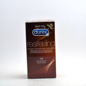 Durex Real Feeling -  10 préservatifs sans latex