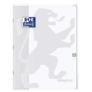 Oxford 400100065 EasyBook Cahier agrafé 24 x 32 cm 96 pages 90 g grands carreaux seyès Incolore