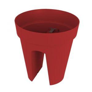 Artevasi Pot de fleurs pour balcon Capri - Ø 30 x H 30 cm - 10 L - Rouge foncé