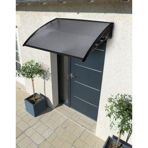 Auvent Marquise de Porte Teinté Noir 80x100cm