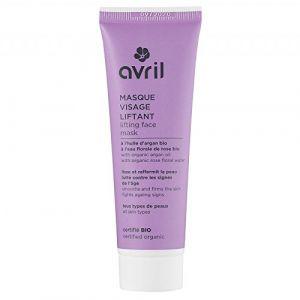 Avril Masque visage liftant à l'huile d'argan bio à l'eau florale de rose bio