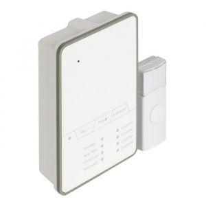 König SAS-WDB212 - Batterie pour sonnette sans fil 80 dB Blanc / Gris