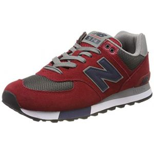 New Balance Baskets basses 574 rouge - Taille 40,42,43,44,45,40 1/2,42 1/2,46 1/2,41 1/2,44 1/2,45 1/2,47 1/2,39 1/2