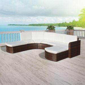 Image de VidaXL 16 pièces de mobilier de jardin en rotin poly