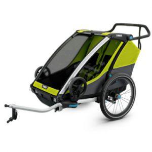 Thule Remorque vélo enfant Chariot Cab 2 Chartreuse, 2019 vert