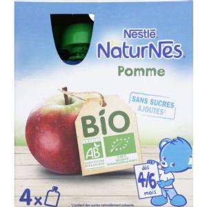 Nestlé Naturnes Bio Gourdes pomme 4 x 90 g - dès 4 mois