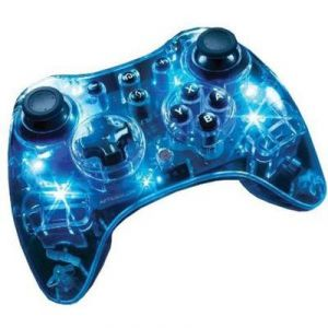 Manette Afterglow sans fil Blue Light pour Wii et Wii U
