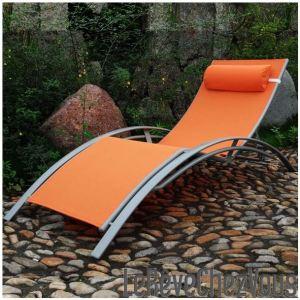 Image de Bain de soleil aluminium et textilène multi positions