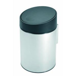 Brabantia Poubelle slide pour salle de bain en inox 5 l