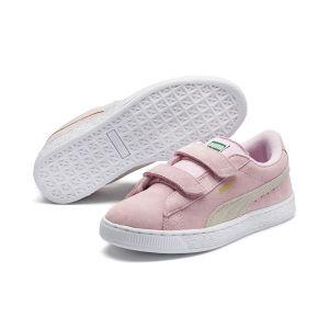 Puma Suede 2 Straps PS, Sneakers Basses Mixte Enfant, Rose (Pink Lady Team Gold 23), 32 EU