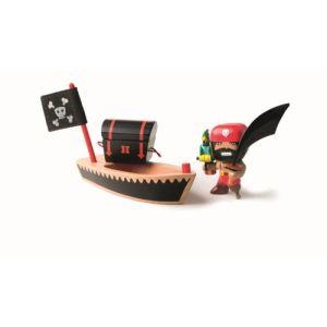 Djeco Figurine pirate El Loco et son embarcation
