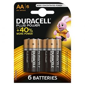 Duracell Pack de 6 Piles Plus Power AA (LR06)