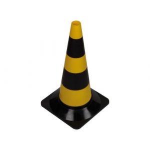 Image de Perel Cône de signalisation jaune / noir 50cm