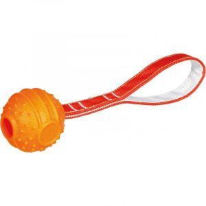 Trixie Soft & strong balle avec sangle, tpr - ø 6 cm/26 cm, orange
