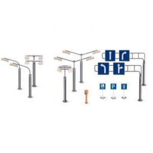 Siku 5594 - Panneaux de signalisation et réverbères