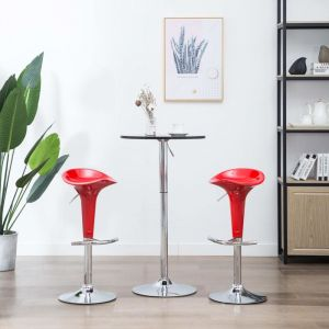 VidaXL Tabouret de bar 2 pcs Plastique Rouge