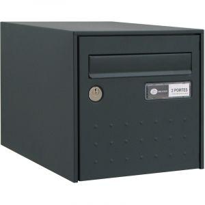 Decayeux Boîte aux lettres gris anthracite simple face STEEL BOX