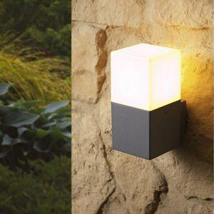 Silamp Applique Murale Grise LED IP44 Alu pour ampoule E27