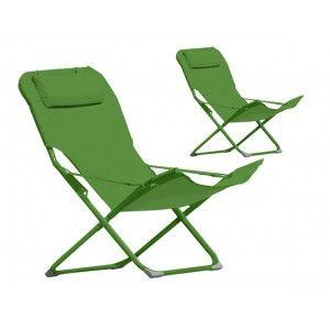 Talanga - Chaise longue (lot de 2)