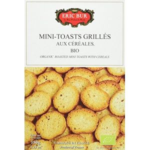 Eric Bur Mini Toasts Céréales Bio 150 g - Lot de 5