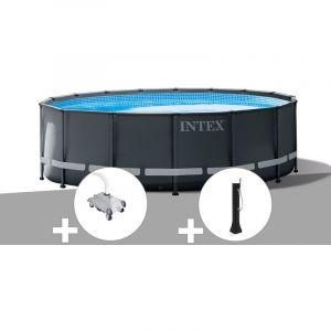 Intex Kit piscine tubulaire Ultra XTR Frame ronde 5,49 x 1,32 m + Robot nettoyeur + Douche solaire