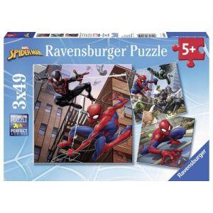 Ravensburger Spiderman en actionr - Puzzle 3 x 49 pièces
