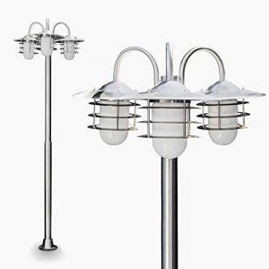 Hofstein Réverbère Rubin Acier inoxydable, 3 lumières - Moderne/Design - Extérieur - Rubin
