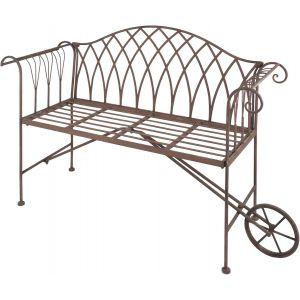 Esschert design MF010 - Banc de jardin brouette en métal
